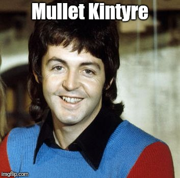 Mullet Kintyre | image tagged in paul mccartney | made w/ Imgflip meme maker