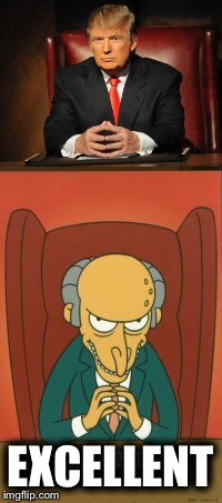 Am I the only one around here that sees a striking similarity? | EXCELLENT | image tagged in memes,donald trump,mr burns,excellent | made w/ Imgflip meme maker