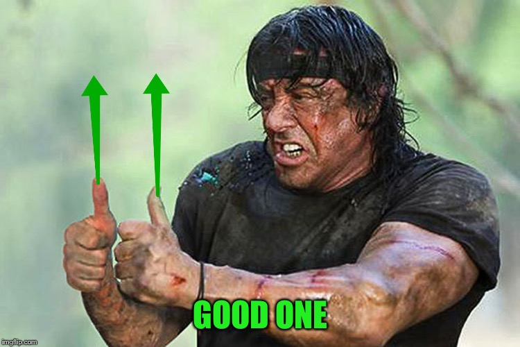 Two Thumbs Up Vote | GOOD ONE | image tagged in two thumbs up vote | made w/ Imgflip meme maker