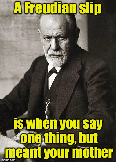 Motherlover  | A Freudian slip is when you say one thing, but meant your mother | image tagged in freud,sigmund freud,freudian slip,mother | made w/ Imgflip meme maker