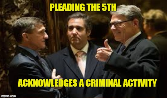 Cohen in a Box | PLEADING THE 5TH ACKNOWLEDGES A CRIMINAL ACTIVITY | image tagged in fifth amendment,cohen,trump | made w/ Imgflip meme maker