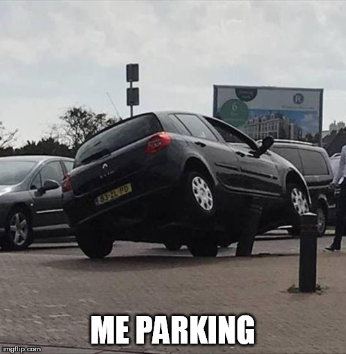 ME PARKING | made w/ Imgflip meme maker