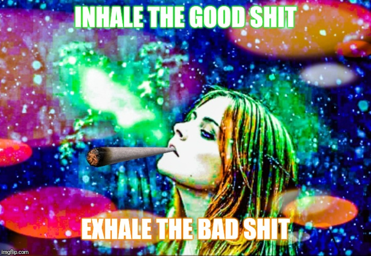 INHALE THE GOOD SHIT EXHALE THE BAD SHIT | image tagged in waiting to exhale | made w/ Imgflip meme maker