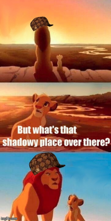 Simba Shadowy Place Meme | image tagged in memes,simba shadowy place,scumbag | made w/ Imgflip meme maker