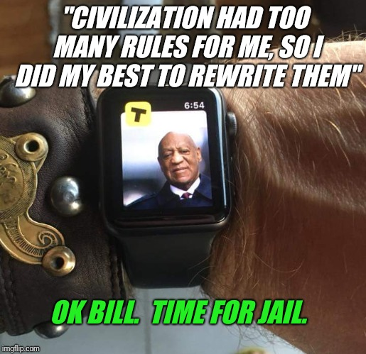 "Guilty on 3 counts. Bill is facing up to 30 years in prison. | ""CIVILIZATION HAD TOO MANY RULES FOR ME, SO I DID MY BEST TO REWRITE THEM"" OK BILL.  TIME FOR JAIL. 