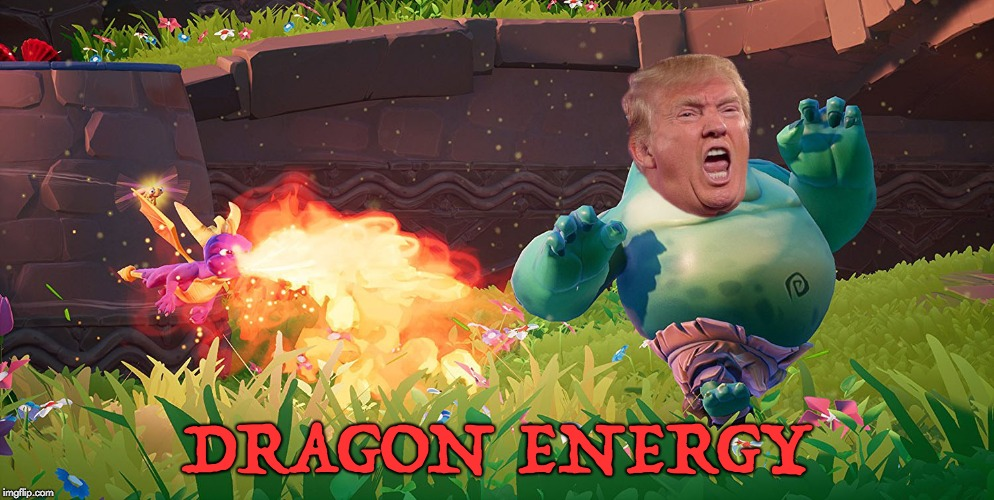 Dragon Energy | DRAGON ENERGY | image tagged in donald trump,kanye west,spyro,dragon energy | made w/ Imgflip meme maker