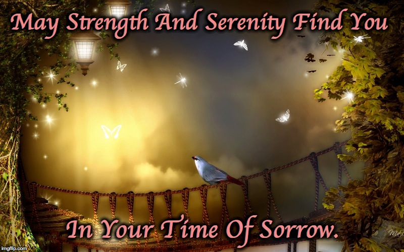 May Strength And Serenity Find You In Your Time Of Sorrow. | made w/ Imgflip meme maker