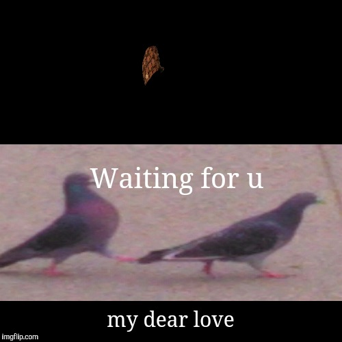Waiting for u | my dear love | image tagged in funny,demotivationals | made w/ Imgflip demotivational maker