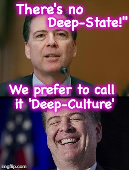 I guess it's all in the terminology? | There's no We prefer to call it 'Deep-Culture' Deep-State!"