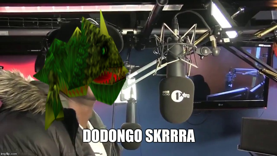 I can't wait to go bomb some Dodongos! |  DODONGO SKRRRA | image tagged in big shaq,mans not hot,zelda | made w/ Imgflip meme maker