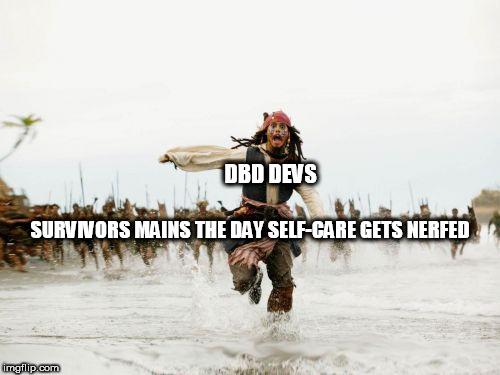 Jack Sparrow Being Chased Meme - Imgflip