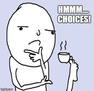 HMMM.... CHOICES! | made w/ Imgflip meme maker