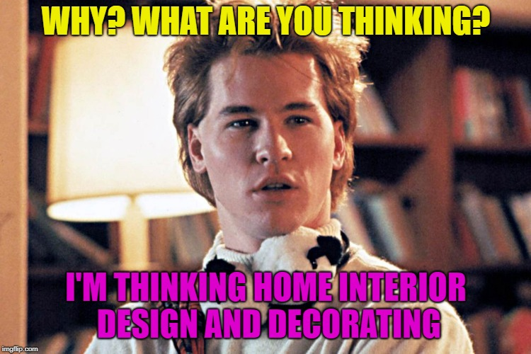 genius | WHY? WHAT ARE YOU THINKING? I'M THINKING HOME INTERIOR DESIGN AND DECORATING | image tagged in genius | made w/ Imgflip meme maker
