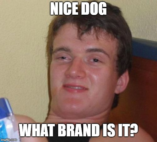 10 Guy Meme | NICE DOG WHAT BRAND IS IT? | image tagged in memes,10 guy,AdviceAnimals | made w/ Imgflip meme maker