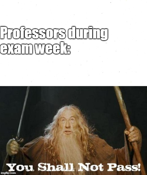 Professor Gandalf | Professors during exam week: | image tagged in gandalf,lord of the rings,exams,lotr | made w/ Imgflip meme maker
