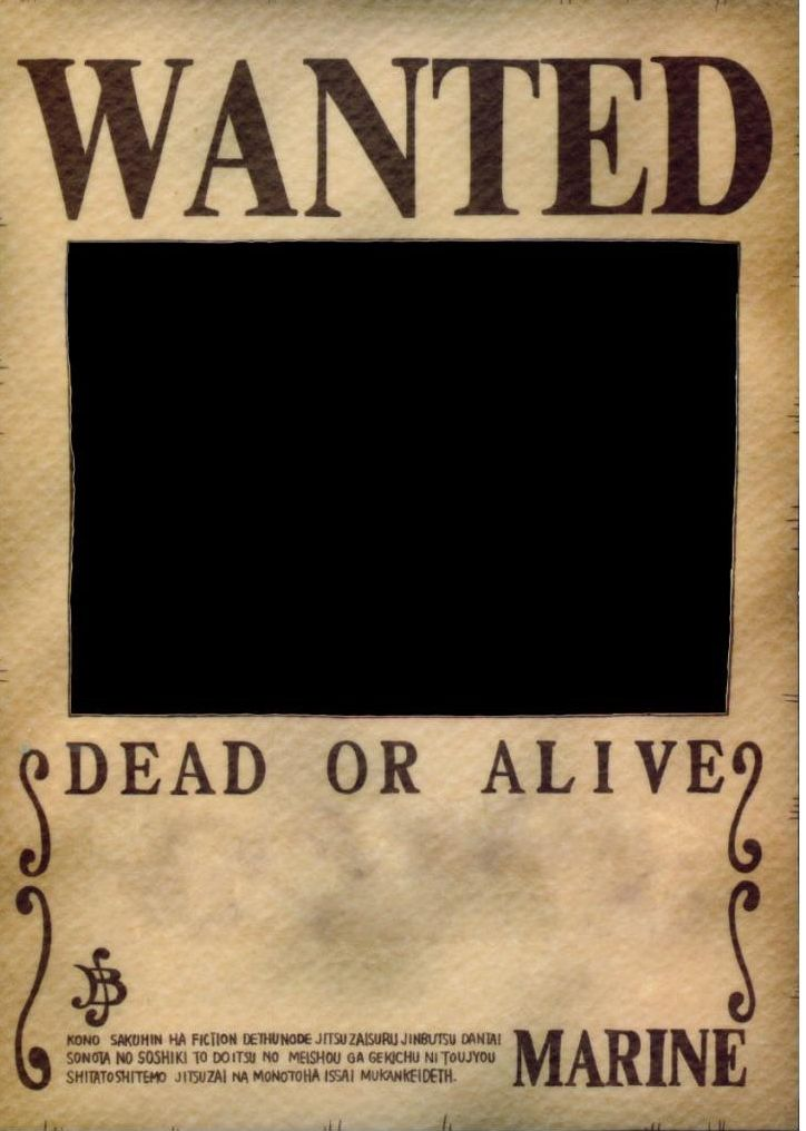 One piece wanted poster template blank template imgflip high quality one piece wanted poster template blank meme template maxwellsz