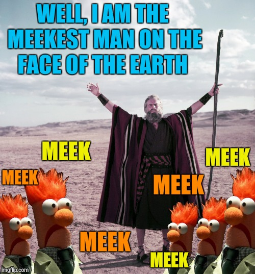 WELL, I AM THE MEEKEST MAN ON THE FACE OF THE EARTH MEEK MEEK MEEK MEEK MEEK MEEK | made w/ Imgflip meme maker