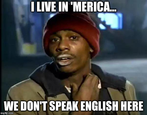 Y'all Got Any More Of That Meme | I LIVE IN 'MERICA... WE DON'T SPEAK ENGLISH HERE | image tagged in memes,y'all got any more of that | made w/ Imgflip meme maker
