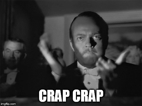 clapping | CRAP CRAP | image tagged in clapping | made w/ Imgflip meme maker