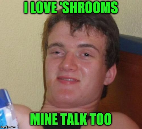 10 Guy Meme | I LOVE 'SHROOMS MINE TALK TOO | image tagged in memes,10 guy | made w/ Imgflip meme maker
