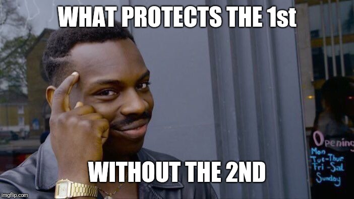 Roll Safe Think About It Meme | WHAT PROTECTS THE 1st WITHOUT THE 2ND | image tagged in memes,roll safe think about it | made w/ Imgflip meme maker