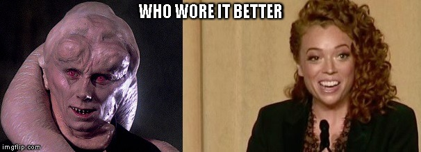 WHO WORE IT BETTER | image tagged in wwib_bib_wolf | made w/ Imgflip meme maker