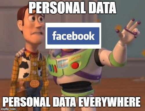 X, X, Everywhere | PERSONAL DATA PERSONAL DATA EVERYWHERE | image tagged in memes,x x everywhere,doctordoomsday180,facebook,personal data,funny | made w/ Imgflip meme maker