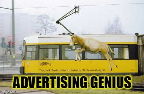 ADVERTISING GENIUS | image tagged in advertising,genius,horns | made w/ Imgflip meme maker