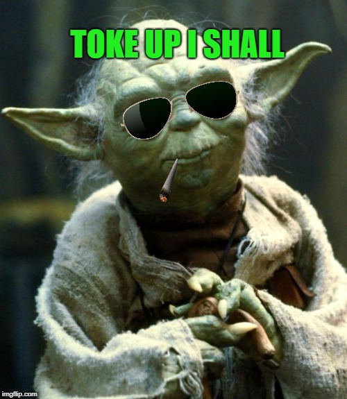 Star Wars Yoda Meme | TOKE UP I SHALL | image tagged in memes,star wars yoda | made w/ Imgflip meme maker