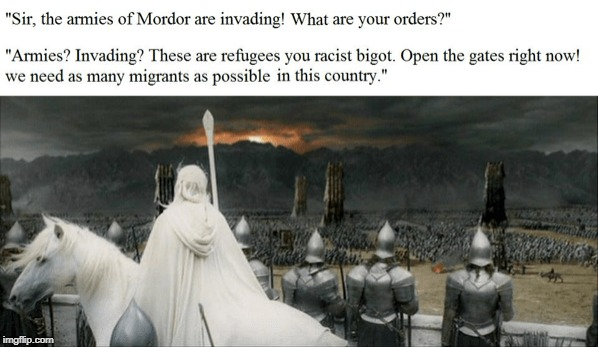 Anyobody that doesn't want Orcs to come into Gondor are just a bunch of rascist orcophobic goblino-phobic trollo-phobic bigots! | image tagged in orc,lives,matter | made w/ Imgflip meme maker
