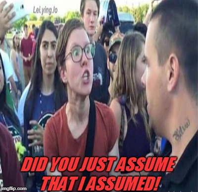 DID YOU JUST ASSUME THAT I ASSUMED! | made w/ Imgflip meme maker