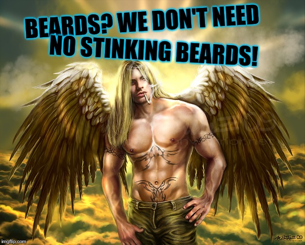 BEARDS? WE DON'T NEED NO STINKING BEARDS! | made w/ Imgflip meme maker