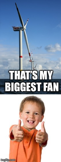 My biggest fan | THAT'S MY BIGGEST FAN | image tagged in fan,awsome,cool,dude | made w/ Imgflip meme maker