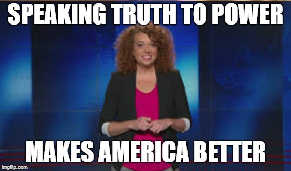 Michelle Wolf Courage |  SPEAKING TRUTH TO POWER; MAKES AMERICA BETTER | image tagged in correspondence dinner,wolf,huckabee | made w/ Imgflip meme maker