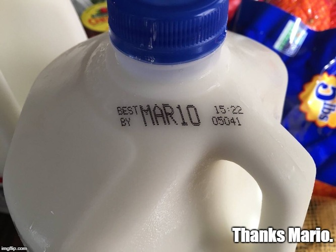 Thanks Mario. | Thanks Mario. | image tagged in milk carton,thank you mario | made w/ Imgflip meme maker