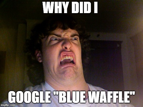 "Oh No Meme | WHY DID I GOOGLE ""BLUE WAFFLE"" 