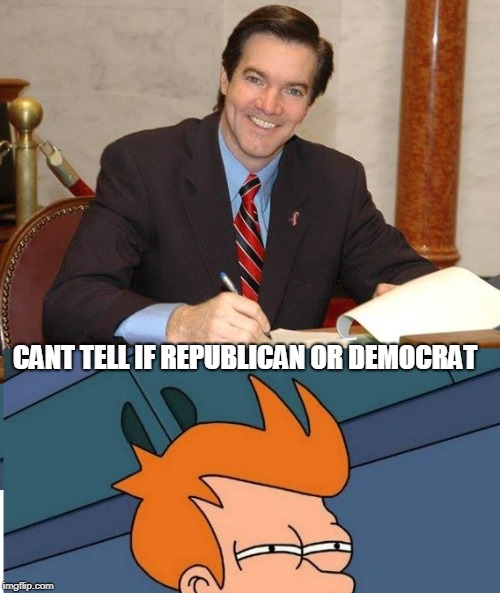 CANT TELL IF REPUBLICAN OR DEMOCRAT | image tagged in evan jenkins | made w/ Imgflip meme maker