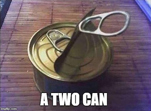 a two can | A TWO CAN | image tagged in can | made w/ Imgflip meme maker