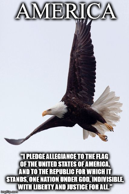 "AMERICA ""I PLEDGE ALLEGIANCE TO THE FLAG OF THE UNITED STATES OF AMERICA, AND TO THE REPUBLIC FOR WHICH IT STANDS, ONE NATION UNDER GOD, IND 