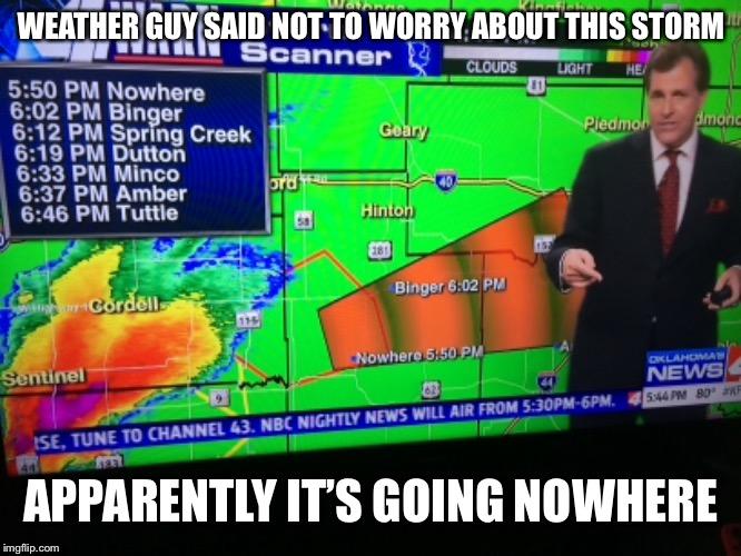 It Ternader Season Again In Oklahoma Imgflip
