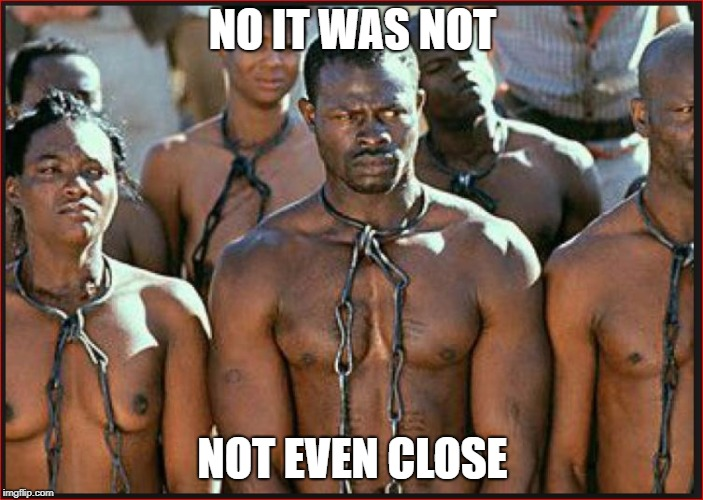 Slavery is Heritage | NO IT WAS NOT NOT EVEN CLOSE | image tagged in slavery is heritage | made w/ Imgflip meme maker