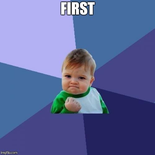 Success Kid Meme | FIRST | image tagged in memes,success kid | made w/ Imgflip meme maker