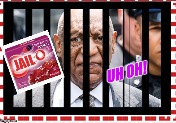 UH OH! | image tagged in jello,pudding pops,jail | made w/ Imgflip meme maker