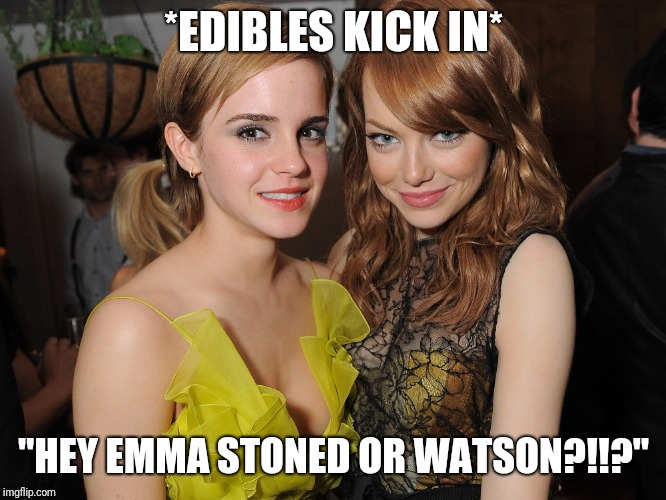 "Am I Stoned Or What Son?  | *EDIBLES KICK IN* ""HEY EMMA STONED OR WATSON?!!?"" 