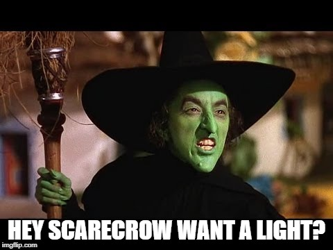 HEY SCARECROW WANT A LIGHT? | made w/ Imgflip meme maker