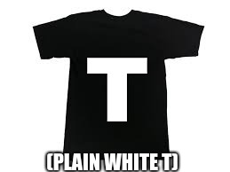 (PLAIN WHITE T) T | image tagged in shirt,t-shirt,literally | made w/ Imgflip meme maker