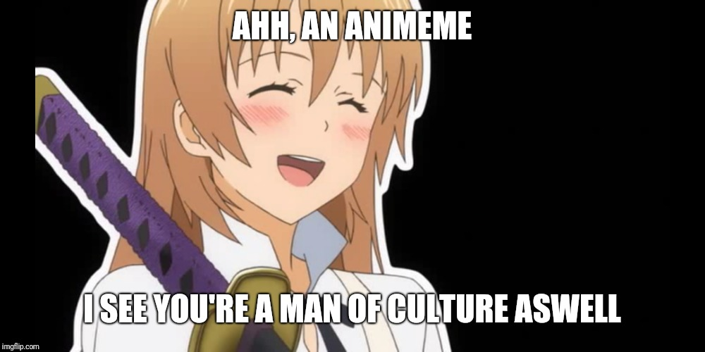 AHH, AN ANIMEME I SEE YOU'RE A MAN OF CULTURE ASWELL | made w/ Imgflip meme maker