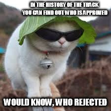 Funny animals | IN THE HISTORY OF THE TRACK YOU CAN FIND OUT WHO IS APPROVED WOULD KNOW, WHO REJECTED | image tagged in funny animals | made w/ Imgflip meme maker