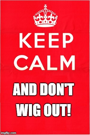 AND DON'T WIG OUT! | made w/ Imgflip meme maker