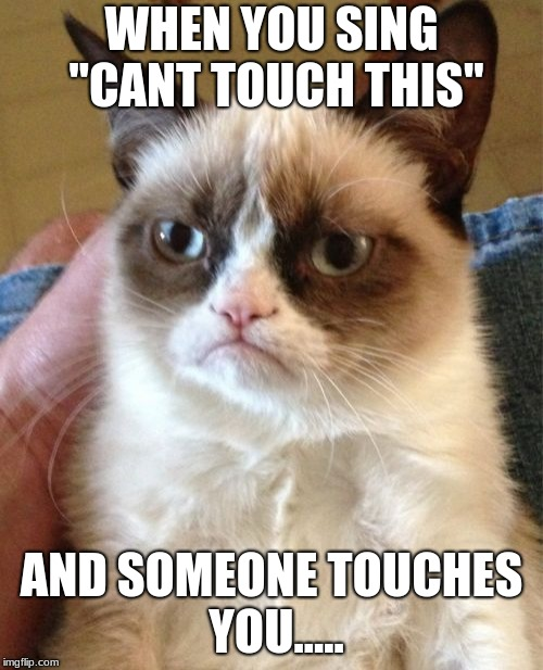 "Grumpy Cat Meme | WHEN YOU SING ""CANT TOUCH THIS"" AND SOMEONE TOUCHES YOU..... 